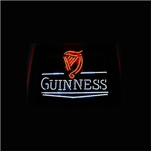 NEON SIGN For  GUINNESS  Signboard REAL GLASS BEER BAR PUB  display  RESTAURANT outdoor Light Signs 17*14""