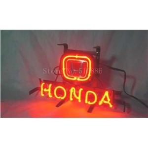 NEON SIGN For Japanese Honda Car and Bike Brand  Business  Real GLASS Tube BEER BAR PUB  store display  Shop Light Signs 17*14""
