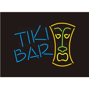 Custom NEON Sign Board Tiki Bar Glass Tube Beer Bar Club Pub Party Display Store Shop Light Signboard Signage Signs 17*14""