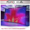 5 pieces 3x1m P90mm small led vision cloths connecting to be big dimension size led 3x5m video curtain