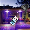 Mini Holiday Garden Decoration Laser Lights Remote Control RGB 12 Patterns IP65 Christmas Xmas Tree Party Proeject Show Lighting