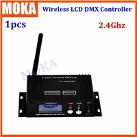 2.4G 3 pin LCD Dmx 512 Wireless Receiver/Transmitter Dmx Wireless Lighting Controller Kit Fast transfer the signal