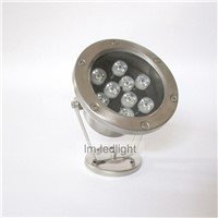 ip68 led underwater spotlight stainless steel 9W led fountain 110v120v220v230v240vpool led light  free ship 30pcs