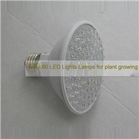 Indoor 3.8W 80 LED Plant Growing Lamp Office RED and Blue LED Flowering Hydroponic Hydro Light Grow Lamp Bulb