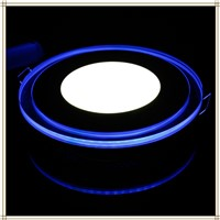 LED Panel Light with blue Light 20W 1880lm Round Acrylic  Bright LED Recessed Panel Down Light Warm White / Cool White 2PCS/LOT