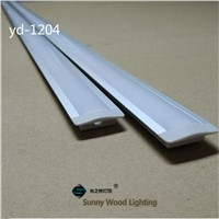 10set/lot embedded led channel ,led bar light housing , aluminium profile for led strip, 12mm PCB board YD-1204-F