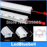 U-Aluminum sheet LED bar lights With accessories plug and PC cover, 5730 , 72 LEDs/meter, Lighting bar 12V Input