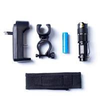 CREE XM-L Q5 450Lumens cree led Torch Zoomable Cree Waterproof LED Flashlight Torch light+1pcs Battery+Battery Charger