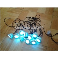 10pcs waterproof  rgb underwater led bath tub led light / led spa lamp with 1pc light controller 1pc 1A adpater