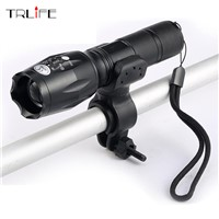 Bicycle light E17 CREE XM-L T6 3800Lumens Bike Bicycle Flashlight Flash Light Torch With Mount Holder cycling Bike light