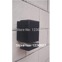 Square IP65 LED outdoor waterproof wall garden lamp / over door head / exterior wall /  wall lamp with 1pcs E27 led bulb