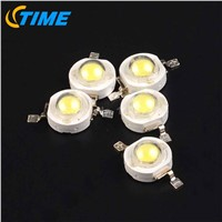 100PCS 3W led Beads Light-emitting Diode RGB Chip DIY White Lamp for 3W LED Candle Light
