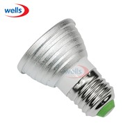 E27 RGB 3W LED Spotlight Bulb Lamp with Remote Controller