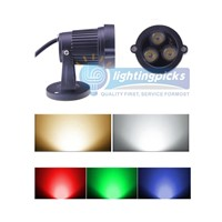 10PCs/Lot 3x2W With Base 85-265V LED Landscape Garden Wall Yard Path Pond Flood Spot Light Outdoor IP65