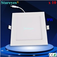 10 pcs Square LED panel light 9W 810LM AC85-265V 2835 SMD led ceiling light spotlight bulb downlight lamp light lighting