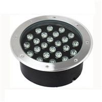 24W  2400LM DC12V AC220V LED Inground Lights Round  Lights Outdoor Waterproof Underground Lighting