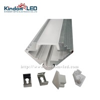 KINDOMLED 10pcs(1m) a lot, aluminium corner led profile with end caps and mounting clips clear cover