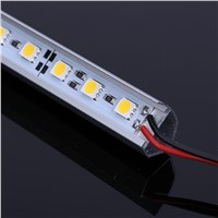 V Shape 5050 0.5m LED Bar 12V Hard Rigid Strip Bar Light 36leds + Aluminium Alloy Shell Housing Tiras LED 1PCS