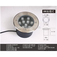 9X1Watt LED inground underground flood light IP65 Buried lighting LED outdoor lamp light 12V OR 24V OR AC85-265V