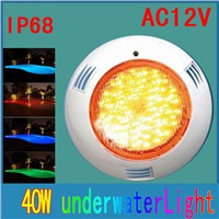AC12v Led Underwater Lights For Led Swimming Pool Light 40w Single Color 558Pcs Hanging Wall Swimming Pool Light