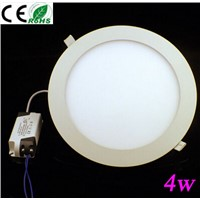Ultra thin 4w   AC100-240V led panel light 2 years warranty