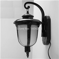 Vintage Glass Outdoor Wall Lamp Antique European-style Wall Lighting E27 Black Bronze Yard Garden Fishing Lamps Waterproof