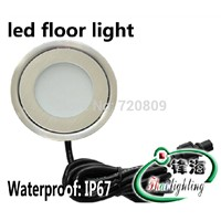 Free Shpping DC12v Ultrathin LED Floor Lamp Recessed Step Light Outdoor Inground Stair Lighting Round