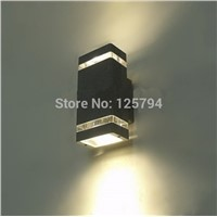 Black/grey Shell Outdoor light / up and down corridor wall lamp / LED Porch/aluminum Garden Lights / waterproof IP65 6w lamp