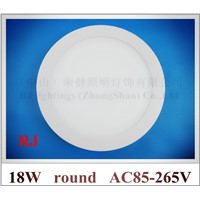 Surface Mount round shape LED panel light lamp ceiling light flat light 18W 1400lm Surface install  Aluminum+PMMA  CE ROHS