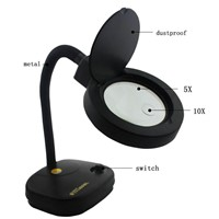 Adjustable Magnifier 36 LED Glass Lighting Table Lamp 110-220V 5x Or 10x Magnifying glass Desk lamps