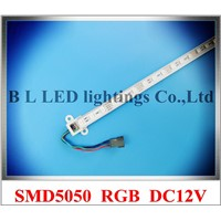 SMD 5050 RGB LED rigid strip light 5050 RGB LED light bar LED counter light cabinet light lamp 60 led 100cm DC12V