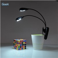 2 Dual Arm LED Reading Clip On Desk Lamp eye-protection lights