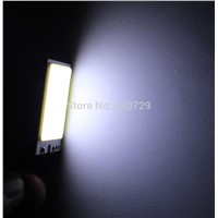 one  Wholesale 4W COB Chip LED 24 led smd Car Light T10 Festoon Dome Adapter 12V Panel light