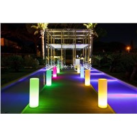 LED Tower Pillar Medium Cylinder Floor lamp outdoor landscape lights round a lamppost light colorful lights round column lights
