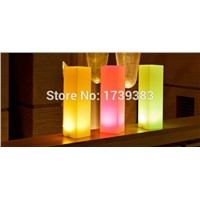 LED square light tower Pillar Medium Cylinder Floor lamp outdoor colonne lumineuse led block light colorful square column light