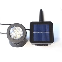 6LED outdoor solar waterproof garden spotlight Led Solar underwater Light Underwater Lighting Lawn/ Pool Lamp