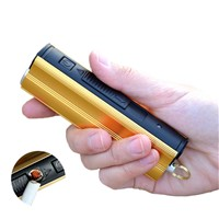 300LMs Micro USB Charge MINI LED Flashlight with Cigarette Lighter Function, 3 Modes Handheld LED Torch with Power Bank Function