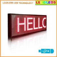 "Leadleds 30""x11"" LED Display Screen Red Multi-line USB Programmable Scrolling Message Led Display Sign Indoor Lighting LED Lamp"