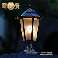 European retro outdoor wall lantern led iluminacion exterior outdoor lamp post waterproof garden lighting aluminum black/bronze