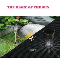 Sale 10Pcs Outdoor Stainless Steel LED Solar Landscape Path Lights Yard Lamp