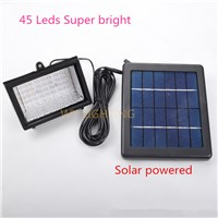 45led solar powered  flood Light, Super Bright 3W solar led Spot Lamp , Garden Light, Wall Or Ground Mounted Landscape Light