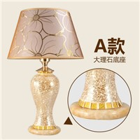 Fashion table lamp bedroom bedside lamp glass table lamp decoration