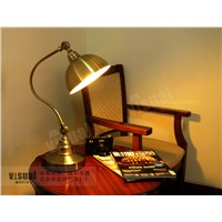 American style table lamp copper bedside study lamp dimming vintage fashion eye lamp of luxury