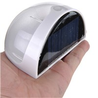 Voice sensor Solar Powered Wall Mount 6 LED Lights Lamp Outdoor Landscape Garden Yard Fence lamps