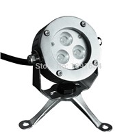 High Quality 100% IP68 316 stainless steel 9W Single RGB LED Underwater Light for Fountain with Tripod Pond LED 4PCS/lot