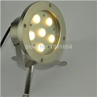 High Quality white warm white Single color IP68 316 stainless steel 18W LED Underwater Spot Light for Fountain Pond lamp