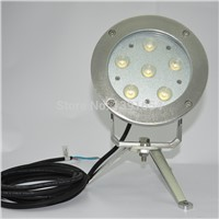 CE ROHS IP68 316 stainless steel DC24V 18W Color Changing LED Fountain Light Underwater Light