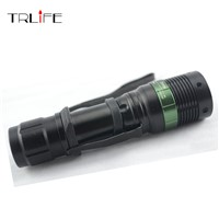 3000 Lumen Zoomable CREE XM-L Q5 LED Flashlight Torch Zoom Lamp Light Black with hand strap