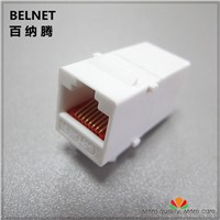 CAT6 ethernet cable extender end-to-end adapter 8P8C RJ45 cable adapter network through extension CAT6 module for empty panel
