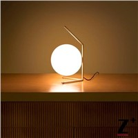 Modern Lamp Nordic Contemporary Table Lamp Bedroom Reading Light Iron Golden Pipe Rod Lamp